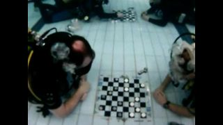 Underwater Checkers Tournament - Video
