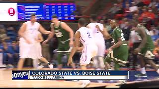 Broncos down Rams 93-71 behind Hutchison - Video