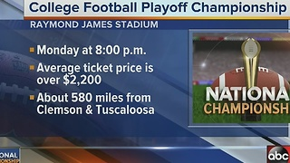 National Championship average ticket prices - Video