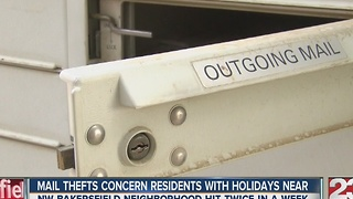 Recent mail theft leaves NW Bakersfield community concerned - Video