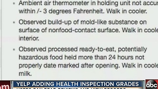Yelp users now able to see health inspection reports - Video