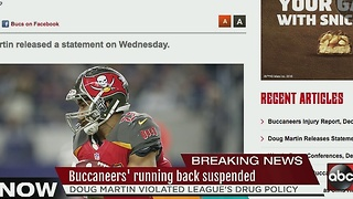 Bucs' running back Doug Martin suspended for violating league's drug policy - Video