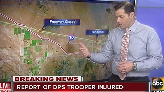 DPS Trooper injured on westbound I-10 near Tonopah - Video