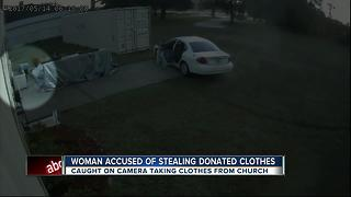 Woman arrested for stealing donations from Catholic Church - Video