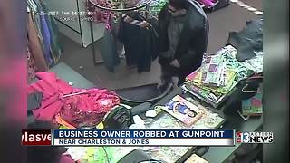 Business owner robbed at gunpoint speaks out - Video