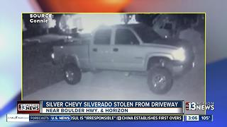 Truck stolen from driveway near Boulder and Horizon - Video