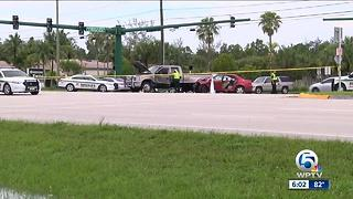 One person seriously injured in rollover crash at Okeechobee Boulevard and Sansbury Way - Video