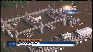 Thousands without power in Burlington after floods - Video