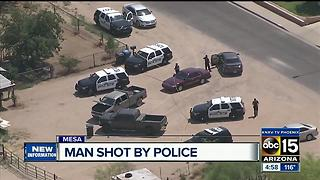 Man shot by Mesa police during order of protection call - Video
