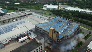 Dramatic Drone Video Shows Car Park Demolition - Video