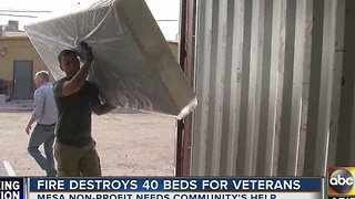 Fire devastate non-profit serving veterans in Mesa - Video