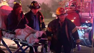 RAW VIDEO: Six children missing in Baltimore house fire
