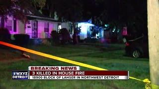 Three killed in fire in Northwest Detroit - Video