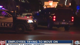 Animal hospital employees back to work after robbery, shooting - Video