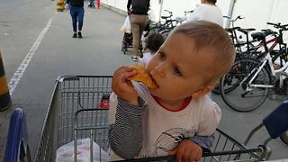 Baby Eats Polish Goat Cheese (Ocypki) for the First Time! - Video