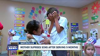 Mother surprises sons after serving 9 months in Afghanistan - Video