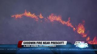 Goodwin Fire burns 4,399 acres in Prescott National Forest - Video