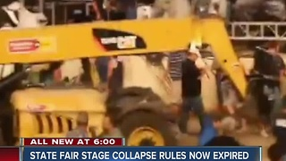 State fair stage collapse rules now expired - Video