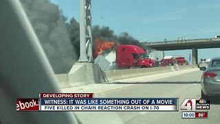 5 people killed in fiery crash on I-70 near Bonner Springs - Video