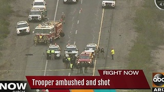 DPS trooper in serious condition after early morning shooting Tonopah - Video