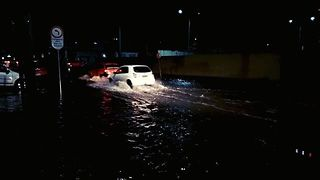 Curitiba Roads Flooded Following Heavy Rainfall