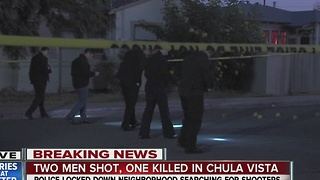 One dead, one injured in Chula Vista gang shooting - Video