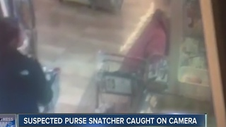 Suspected purse snatcher caught on camera