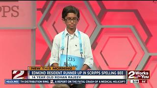 Edmond Resident places second in Scripps Spelling Bee
