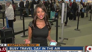 Expect a busy travel day in the air - Video