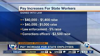 Gov. Scott approves raise for state workers - Video