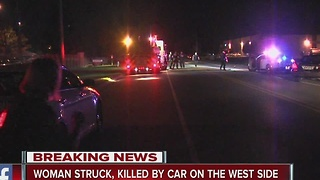 woman struck, killed by car on city's west side - Video