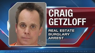 Police arrest man they say is responsible for real estate burgularies - Video