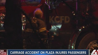 Three injured in horse carriage crash on Plaza - Video