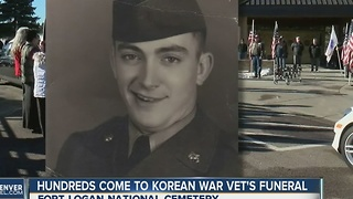 200 attend funeral of Korean vet who died without family - Video