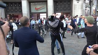 Fight breaks out after Grenfell Tower protest in London - Video