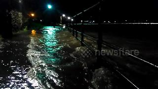 River Kent bursts banks in Kendal, Cumbria - Video