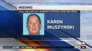 Collier County woman Karen Muszynski reported missing on Friday