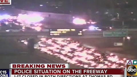 I-17 shut down for police activity in area