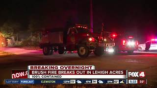 Brush fire breaks out in Lehigh Acres