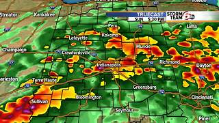 Severe weather likely in central Indiana Sunday - Video