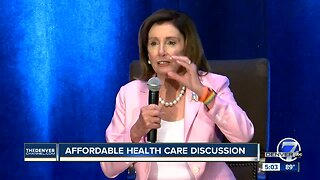 House Speaker Nancy Pelosi visits Colorado
