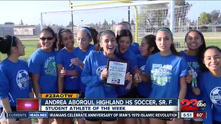 Female Athlete of the Week: Andrea Aborqui - Video