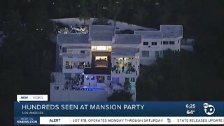 Hundreds seen attending mansion party in Beverly Hills