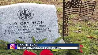 Thieves strike War Dog Memorial - Video
