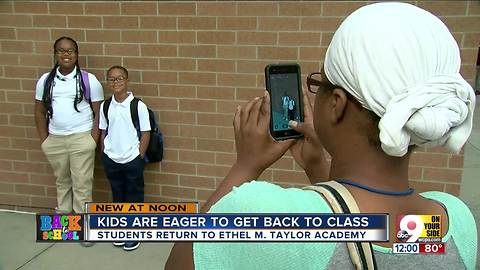 Students back to school at Ethel M. Taylor Academy
