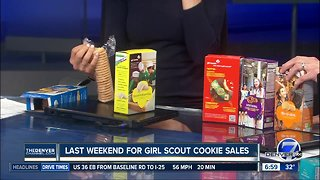 Last weekend for girl scout cookie sales