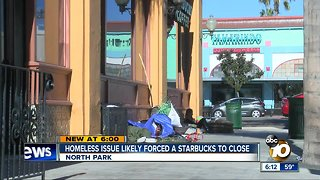 Homeless issue likely forces Starbucks closure