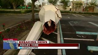 Steeple blown off Winter Haven church - Video