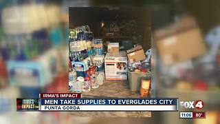 Two men collecting donations for Everglades City - Video
