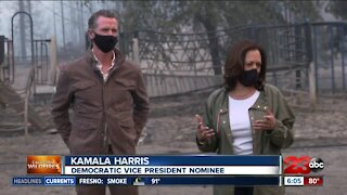 Democratic Vice President Nominee Kamala Harris visits California touring wildfire damage with Gov. Gavin Newsom